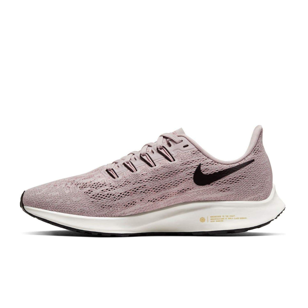 Nike Womens Nike Air Zoom Pegasus 36 Womens Platinum Violet/Black Plum Chalk Sail- Left side view