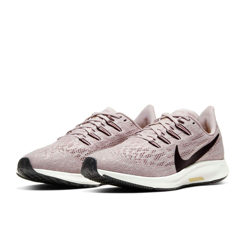 Nike Womens Nike Air Zoom Pegasus 36 Womens Platinum Violet/Black Plum Chalk Sail - Pair view