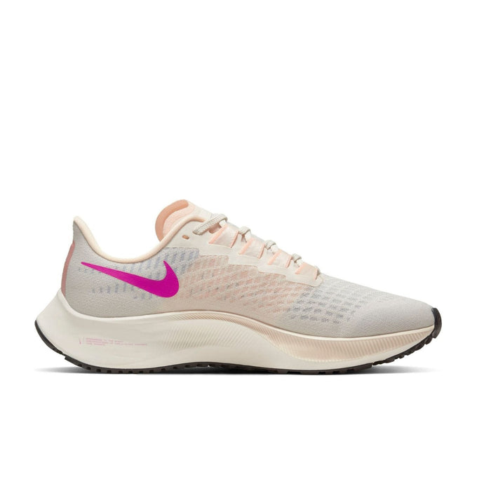 Nike Air Zoom Pegasus 37 Womens Pale Ivory/Ghost Barely Volt | Left side