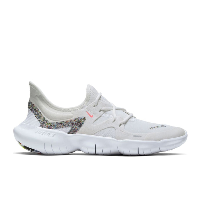 Nike Womens Nike Free RN 5.0 AW Womens White Summit White Lava Glow  -Right side view