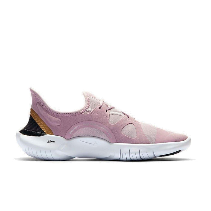 Nike Womens Nike Free RN 5.0 Women's Plum Chalk/Metallic Gold-Platinum Violet - Right side view