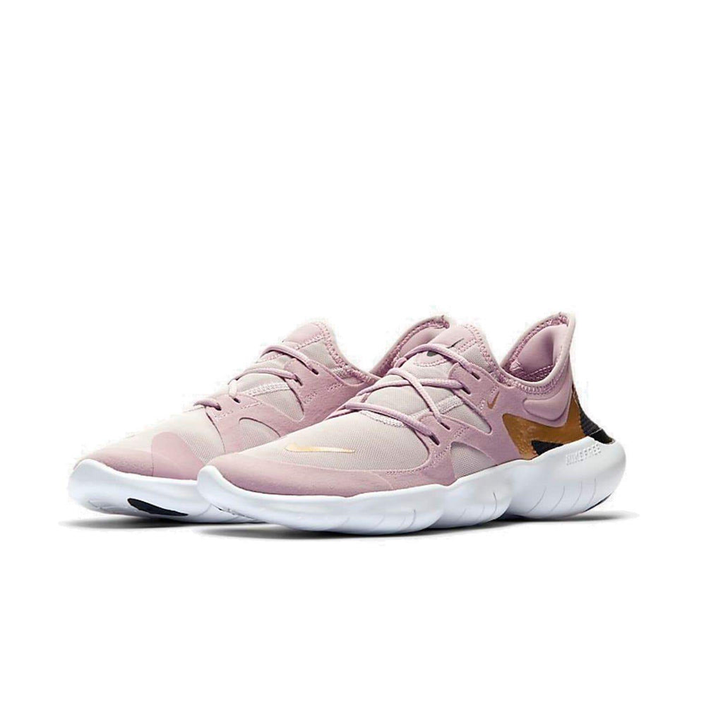 Nike Womens Nike Free RN 5.0 Women's Plum Chalk/Metallic Gold-Platinum Violet - Pair view
