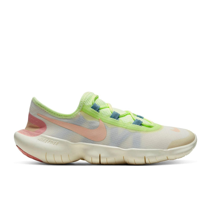 Nike Womens Nike Free RN 5.0 Womens 2020 Pale Ivory/Shimmer Soul  - Right side view