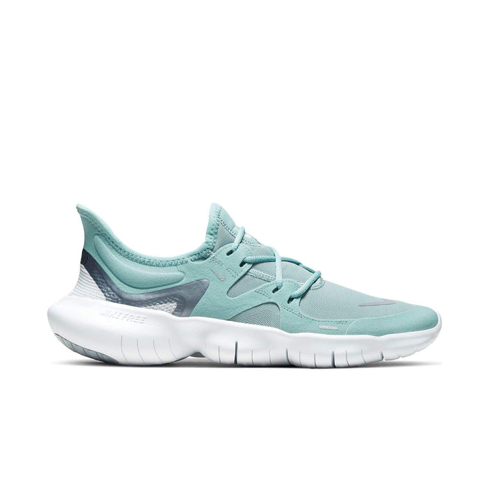 Nike Womens Nike Free RN 5.0 Womens Ocean Cube/MTLC Cool Grey-Pure Platinum - Right side view