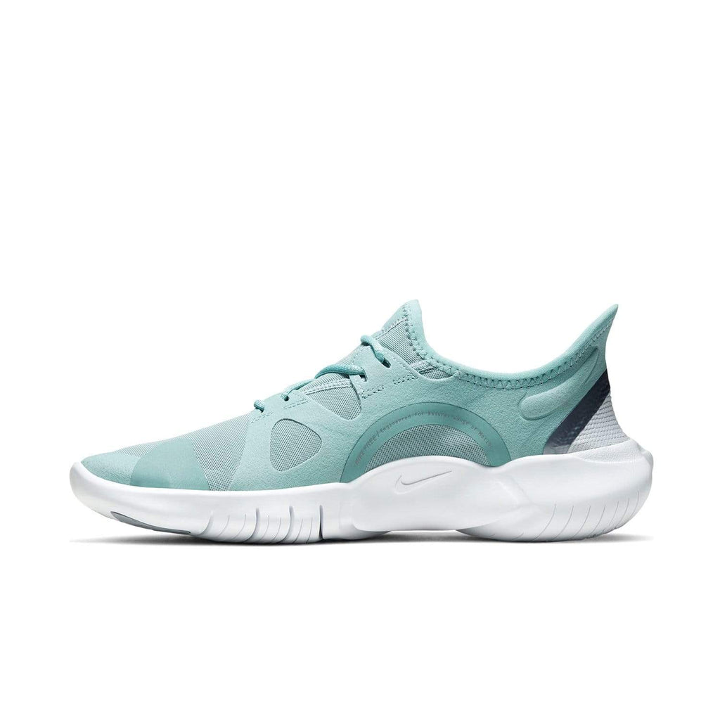 Nike Womens Nike Free RN 5.0 Womens Ocean Cube/MTLC Cool Grey-Pure Platinum - Left side view