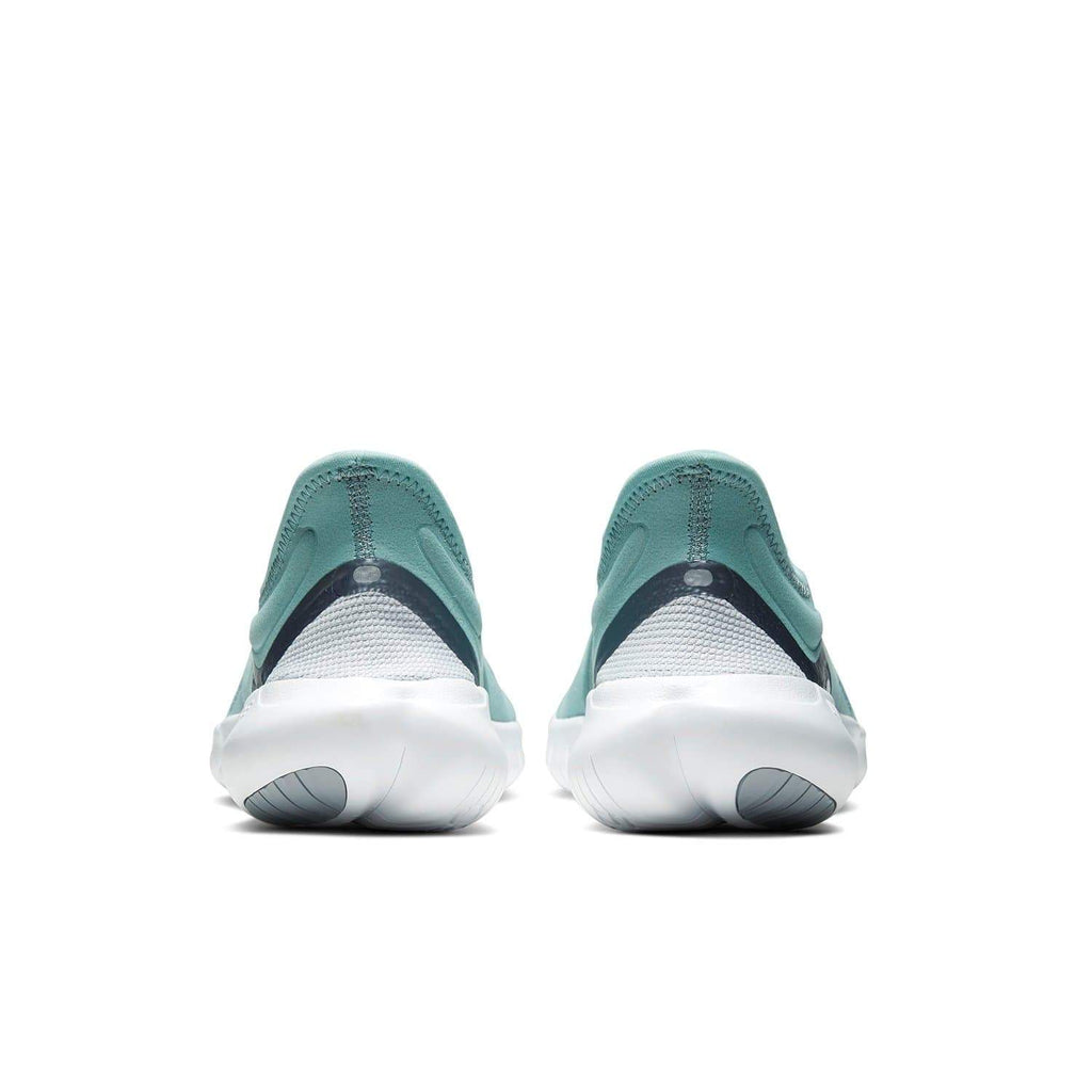 Nike Womens Nike Free RN 5.0 Womens Ocean Cube/MTLC Cool Grey-Pure Platinum - Back view