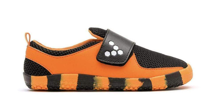 Vivobarefoot Mini Primus Kids Tiger Orange/Black - Sole Mechanics Natural Motion Footwear - Australia & New Zealand