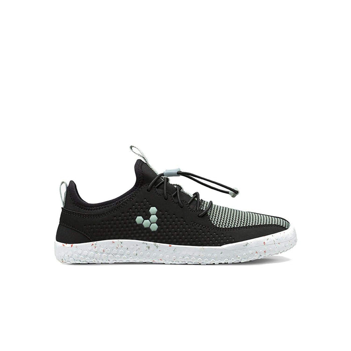 VIVOBAREFOOT Kids Vivobarefoot Primus Junior Mesh Obsidian Black Vivobarefoot Primus Junior Black Aqua Grey | Sole Mechanics
