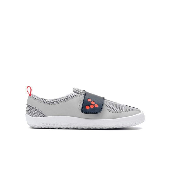 Vivobarefoot Primus Kids Grey Navy Orange  - Right Side View