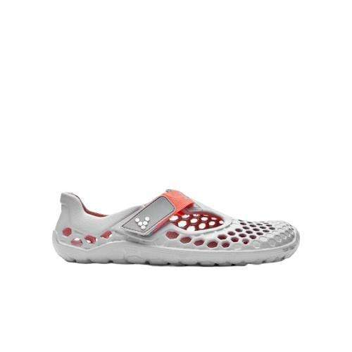 Vivobarefoot Ultra Kids Grey Neon Orange Bloom - Sole Mechanics Natural Motion Footwear - Australia & New Zealand