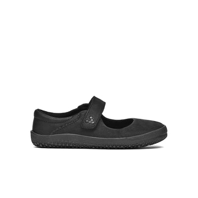 Vivobarefoot Wyn School Kids Obsidian Black - Sole Mechanics Natural Motion Footwear - Australia & New Zealand