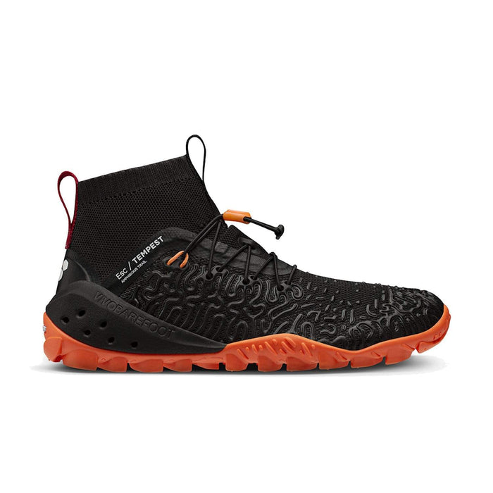 Vivobarefoot ESC Tempest Mens Obsidian-Orange - Sole Mechanics Natural Motion Footwear - Australia & New Zealand