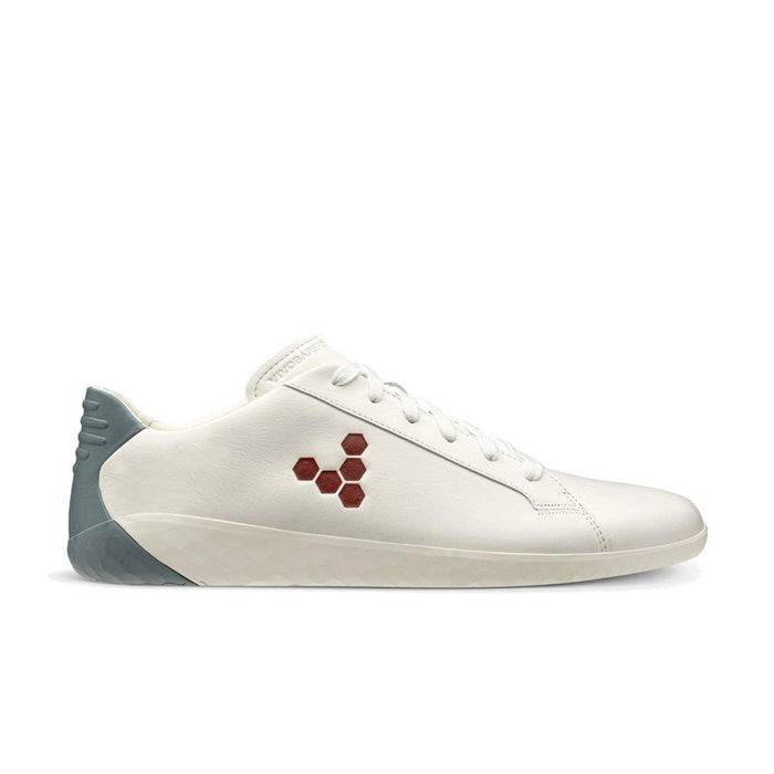 Vivobarefoot Geo Court Mens White Navy Red - Sole Mechanics Natural Motion Footwear - Australia & New Zealand