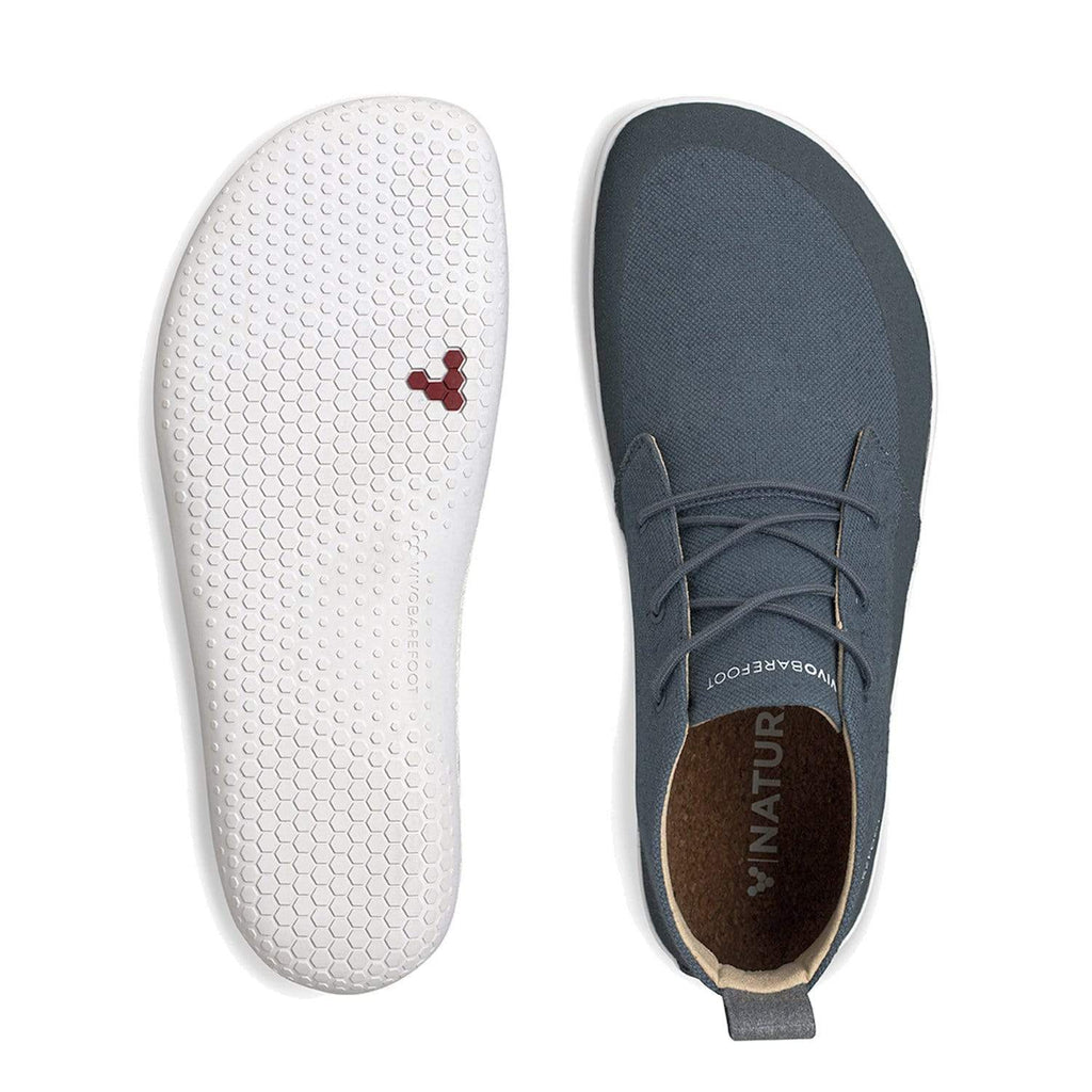 VIVOBAREFOOT Mens Vivobarefoot Gobi II Eco Hemp Mens Deep Sea Blue Vivobarefoot Gobi II Eco Mens Deep Sea Blue | Sole Mechanics Online