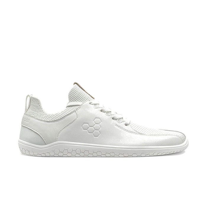 VIVOBAREFOOT Mens Vivobarefoot Primus Knit Lux Mens White Leather Vivobarefoot Primus Knit Lux Mens White | Sole Mechanics