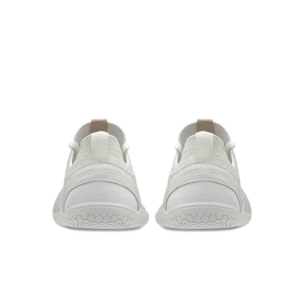 Vivobarefoot Primus Knit Lux Mens White Leather - Sole Mechanics Natural Motion Footwear - Australia & New Zealand