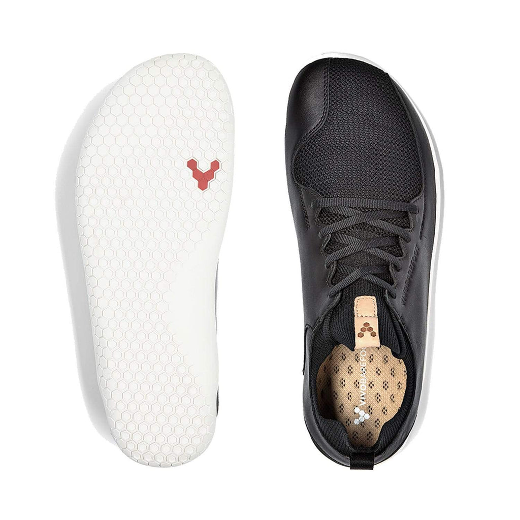 VIVOBAREFOOT Mens Vivobarefoot Primus Knit Mens Black Leather