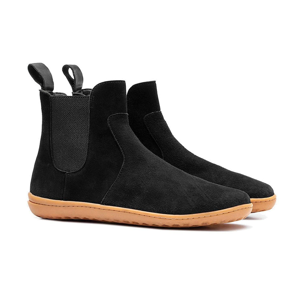 Vivobarefoot Fulham Womens Black Suede Leather - Sole Mechanics Natural Motion Footwear - Australia & New Zealand