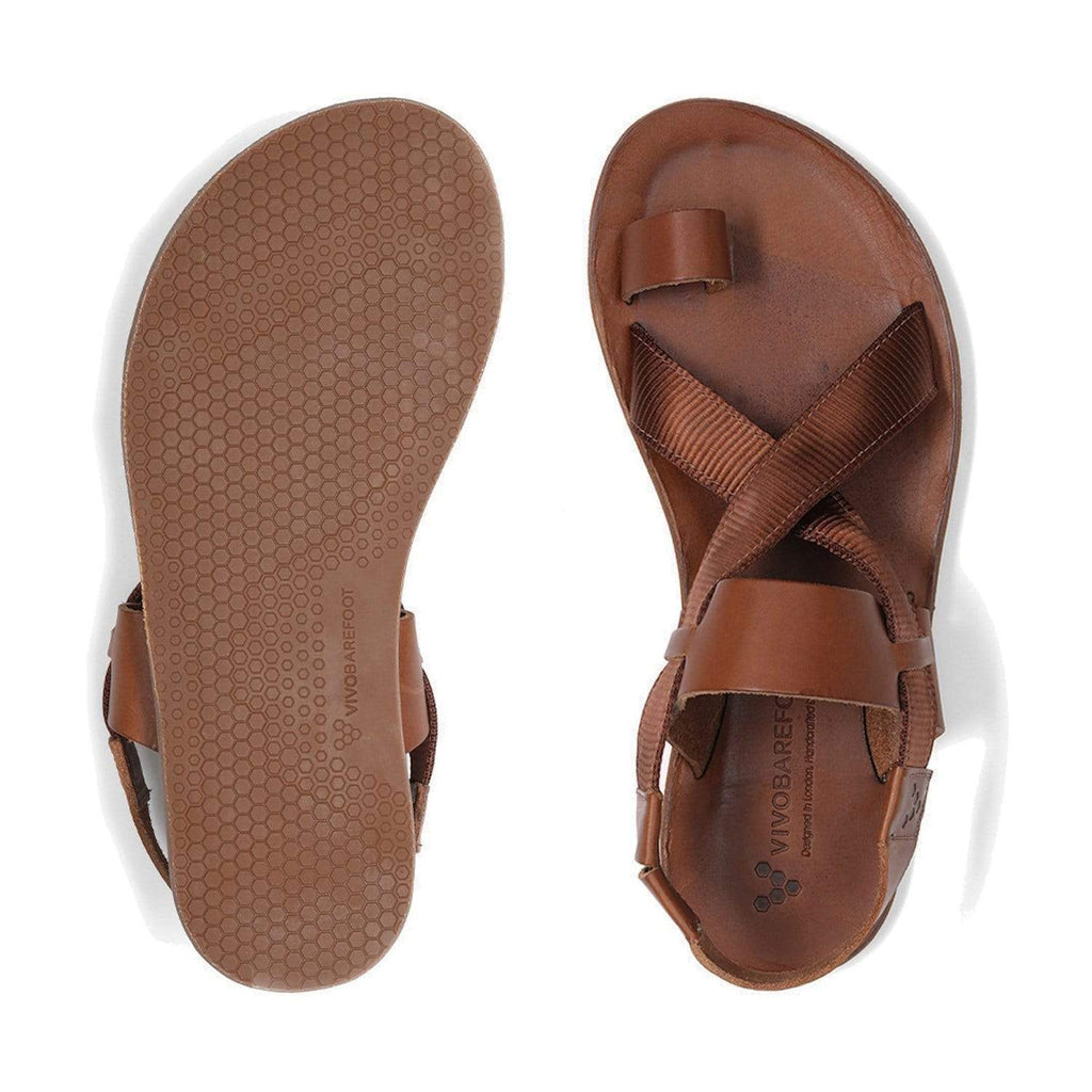 Vivobarefoot Kuru Sandal Womens Acorn - Sole Mechanics Natural Motion Footwear - Australia & New Zealand