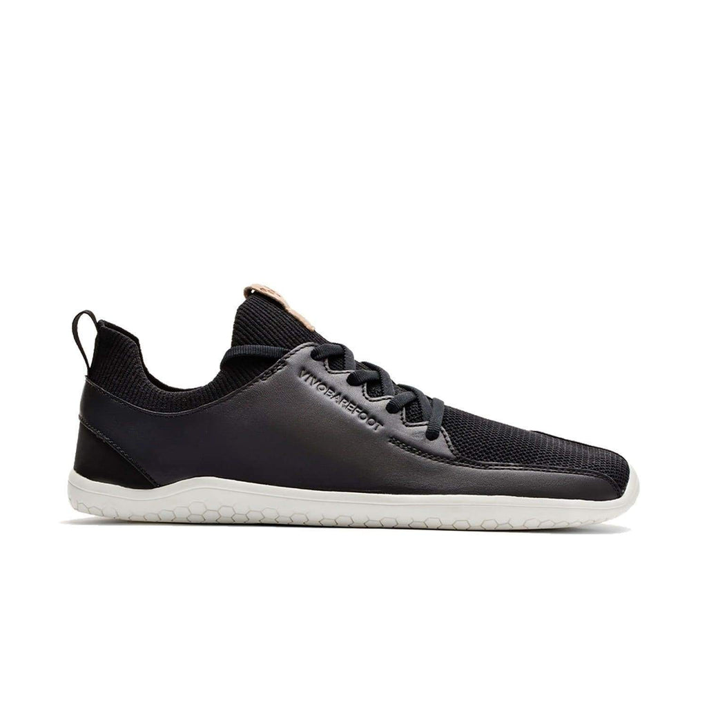 VIVOBAREFOOT Womens Vivobarefoot Primus Knit Womens Black Leather