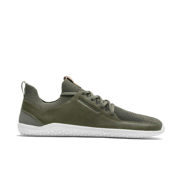VIVOBAREFOOT Womens Vivobarefoot Primus Knit Womens Olive Green Leather
