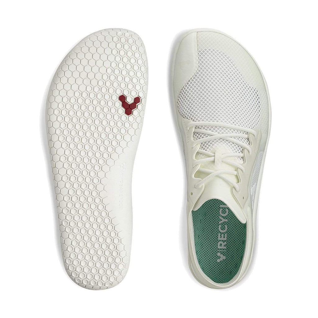 Vivobarefoot Primus Lite II Recycled Womens Bright White - Sole Mechanics Natural Motion Footwear - Australia & New Zealand