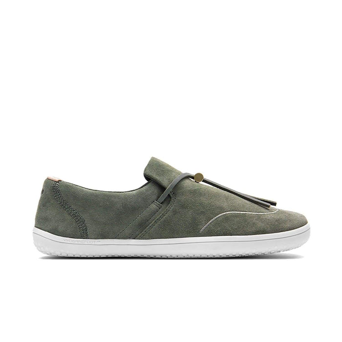 VIVOBAREFOOT Womens Vivobarefoot Ra Slip On Womens Olive Green Leather