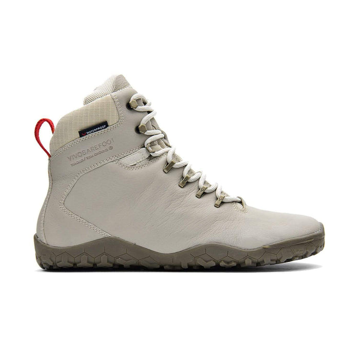 VIVOBAREFOOT Womens Vivobarefoot Tracker FG Womens Cement Cream Leather