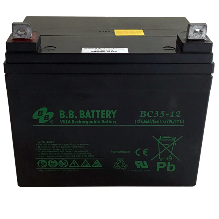 Battery (12 volt, 35 amp-hour)