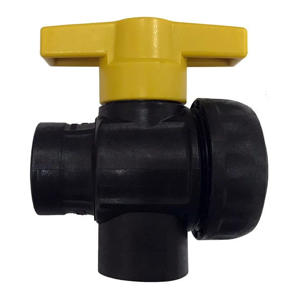 "¾"" FPT 3-Way Poly Ball Valve"