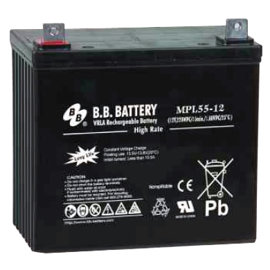 Battery (12 volt, 55 amp-hour) - Bull Dog Pro Sirocco