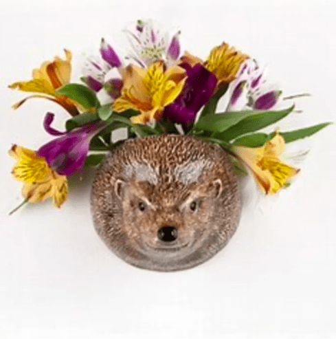 Wall Hanging Animal Vase Hedgehog Small