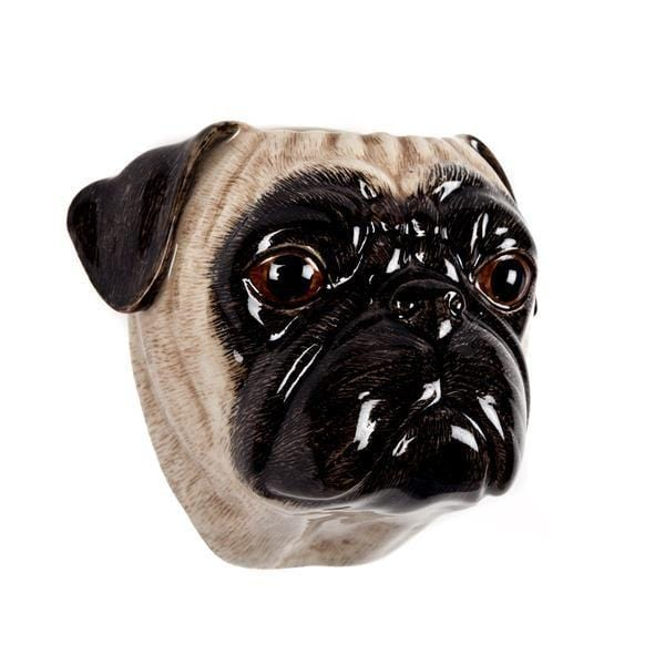 Wall Hanging Animal Vase Tawny Pug