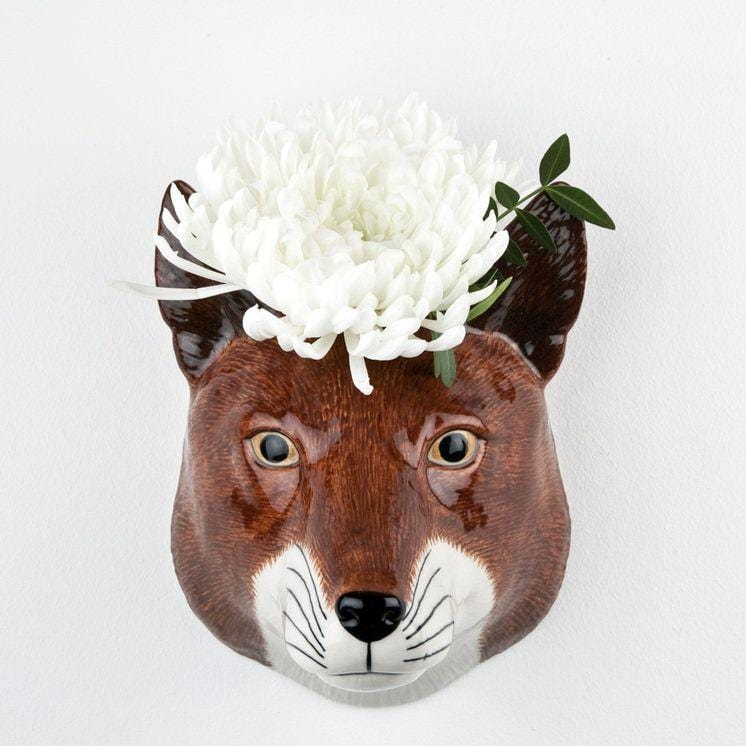 Wall hanging animal vase Fox