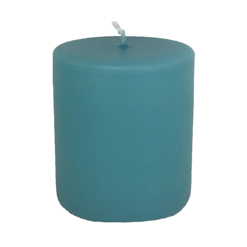 Turquoise Pillar Candle 75mm