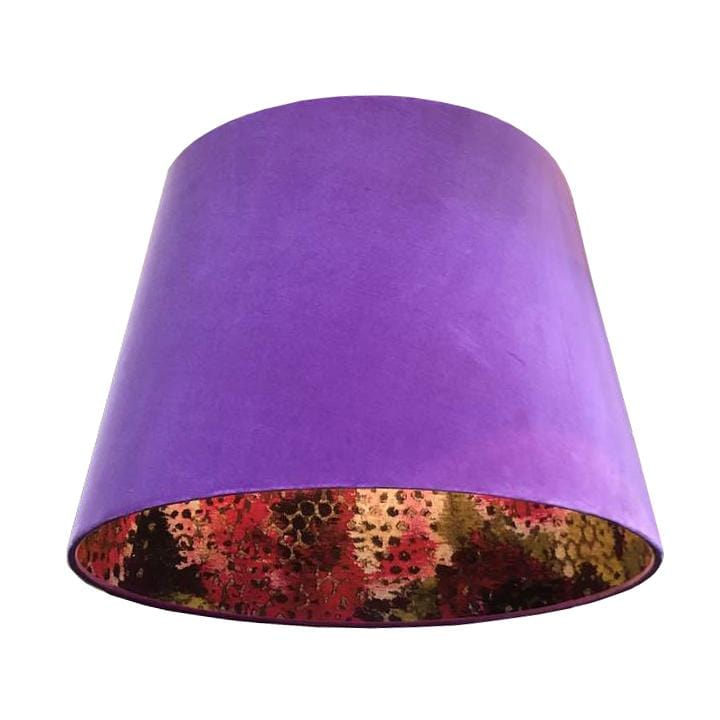 Designers Guild Purple Velvet Cone Light Shade