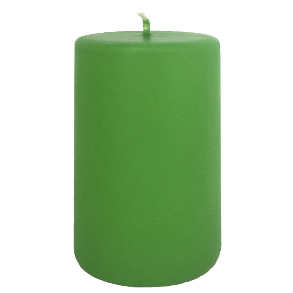 Lime Pillar Candle 100mm