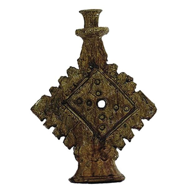 Mustard Moroccan Ornamental Candle Stick Large