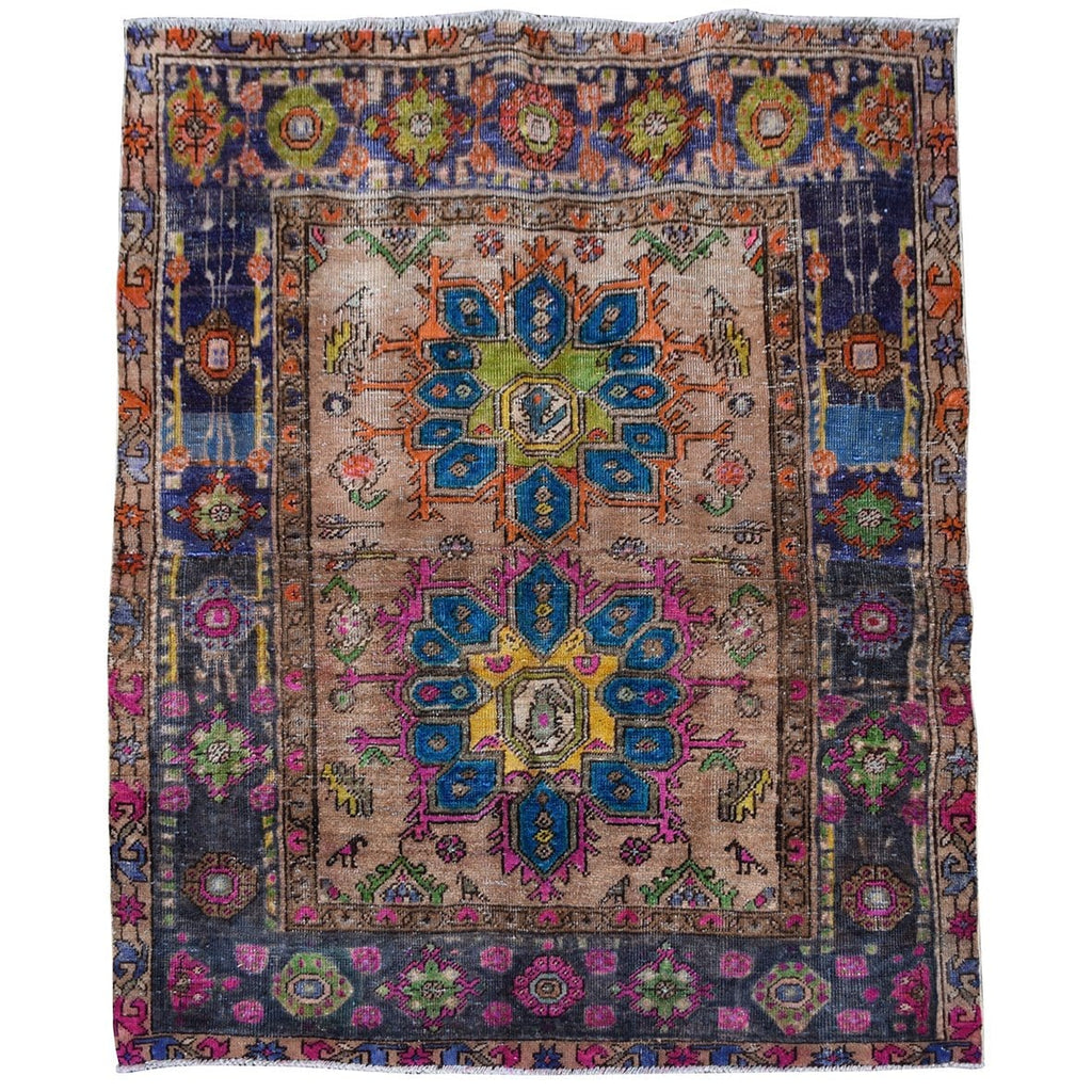 Vintage Multi-coloured Turkish Rug 1.44m x 1.20m