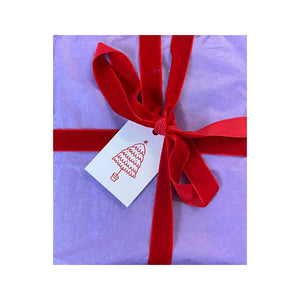 Gift Tag - Red Tree
