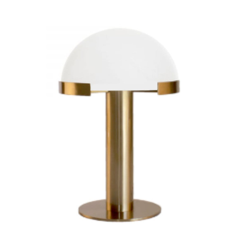 Alabaster Dome Table Lamp - Gold