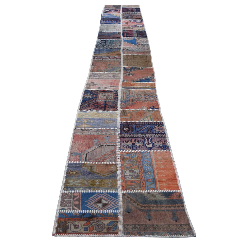 Natural 8m patchwork runner