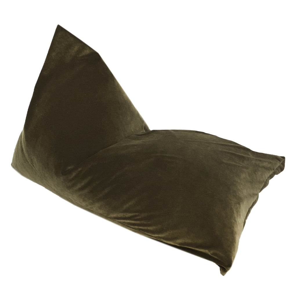 Moss Velvet Bean Bag Lounger