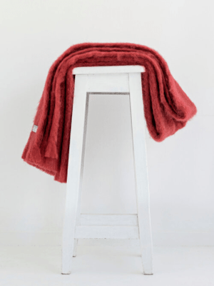 Russet Mohair Throw