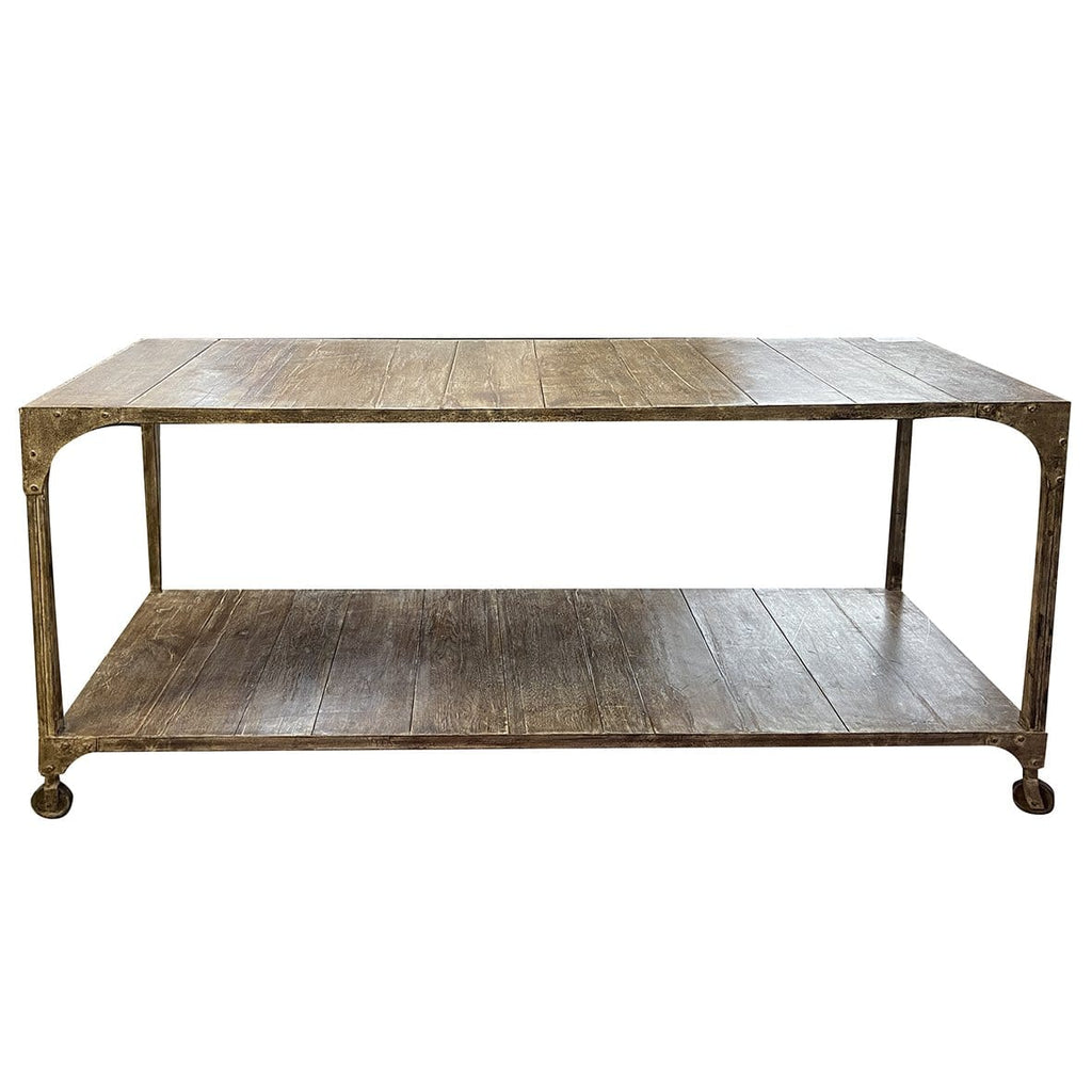 Large Wood Trolley Table