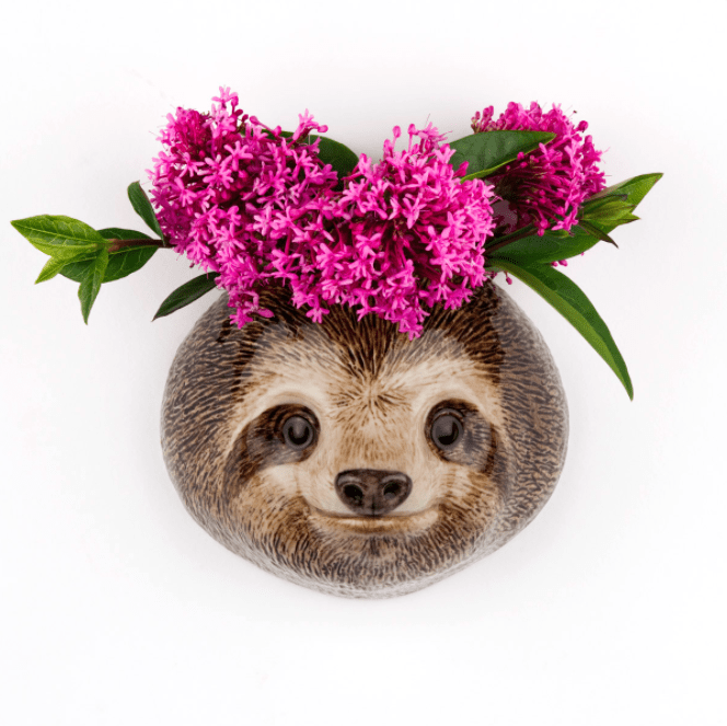 Wall Hanging Animal Vase Sloth