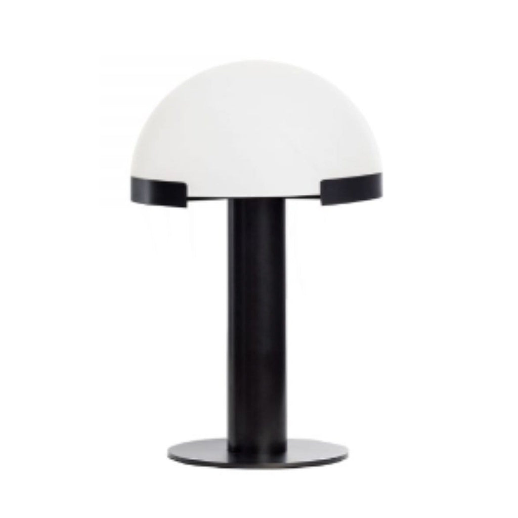 Alabaster Dome Table Lamp - Black