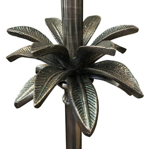 Palm Lamp Stand Pewter