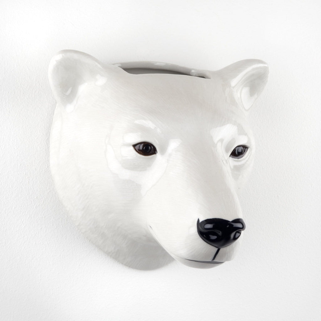 Wall hanging animal vase Polar Bear