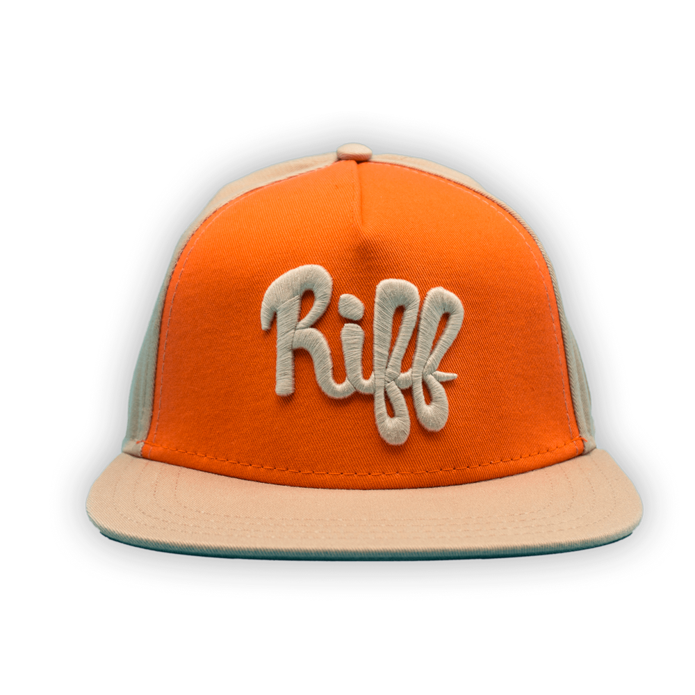 Snapback Hat - Orange/Tan